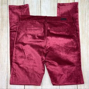 KUT FROM THE KLOTH Red Diana Corduroy Skinny Pant